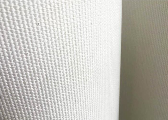 50 Meters Length Fluidizing Polyester Air Slide Fabric White Color ISO Certification